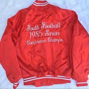Vintage 80s 49ers red bomber jacket